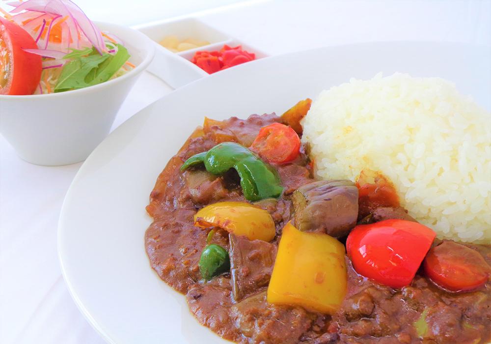 牛挽肉と夏野菜のカレー